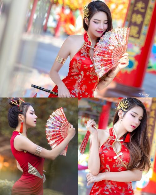 Image-Thailand-Hot-Model-Janet-Kanokwan-Saesim-Sexy-Chinese-Girl-Red-Dress-Traditional-TruePic.net