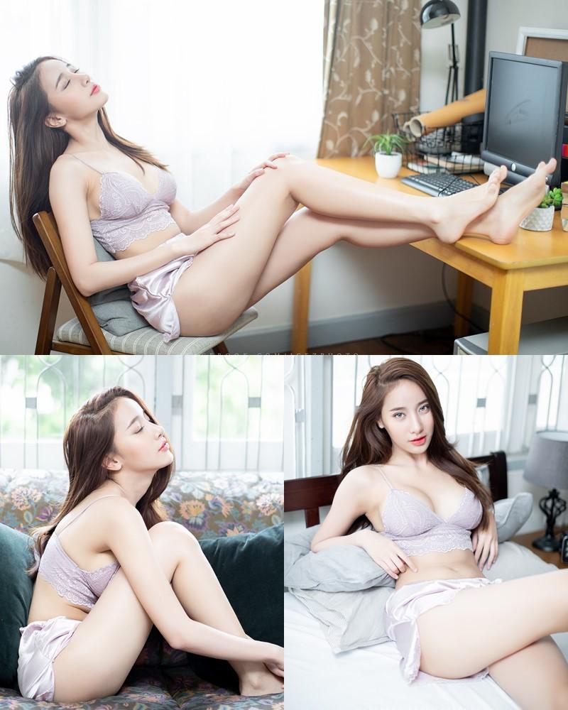 Image-Thailand-Hot-Model-Pichana-Yoosuk-Sexy-Purple-Bra-Shiny-Short-Pants-TruePic.net