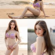 Image-Thailand-Sexy-Model-Blue-Jirarat-จิรารัตน์-ชานันโท-Blue-On-The-Beach-TruePic.net