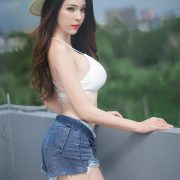 Image-Thailand Sexy Model-Janet-Kanokwan-Saesim-White-Bra-And-Jean-TruePic.net