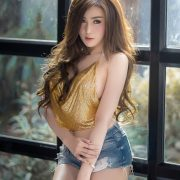 Image-Thailand-Sexy-Model-Khwankanang-Buakongyossawan-Yellow-Camisole-And-Jean-TruePic.net