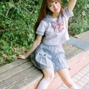 Image-Tukmo-Vol-094-Model-Zhao-Nai-Ying-赵乃莹-Lovely-School-Girl-With-Student-Uniform-TruePic.net