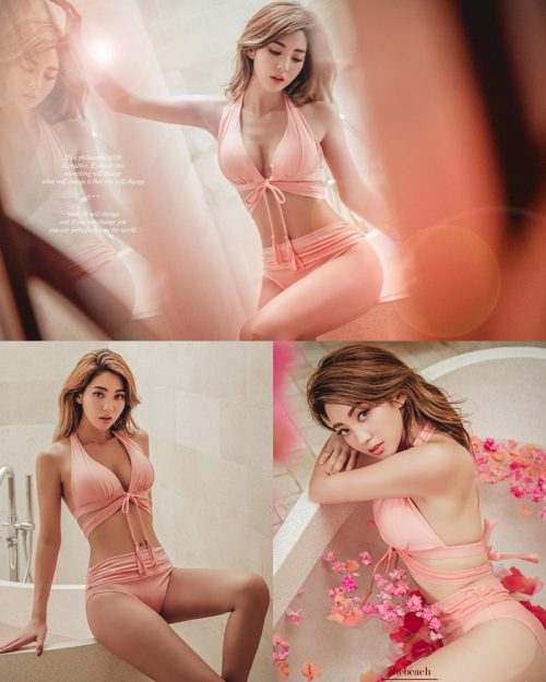 Image Lee Chae Eun - Bucket Pink Bikini - Korean Fashion Model - TruePic.net