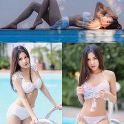 Image Thailand Model - Phitchamol Srijantanet - White Crochet Bikini - TruePic.net