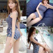 Image Korean Fashion Model - Cha Yoo Jin - Diamond Smoke Monokini - TruePic.net