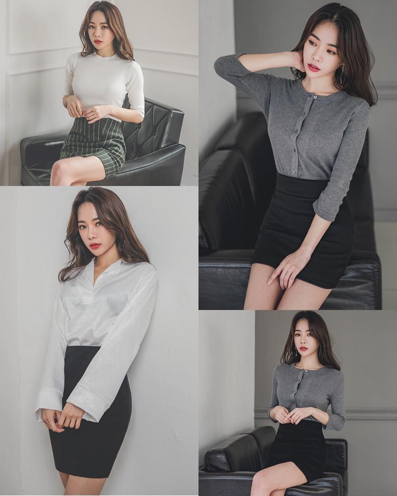 Image Korean Fashion Model - An Seo Rin - Office Dress Collection - TruePic.net
