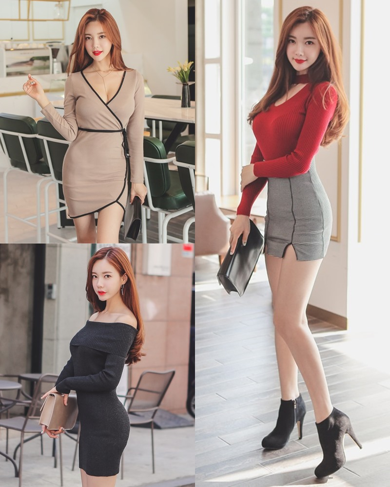 Korean Fashion Model - Hyemi - Office Dress Collection - TruePic.net
