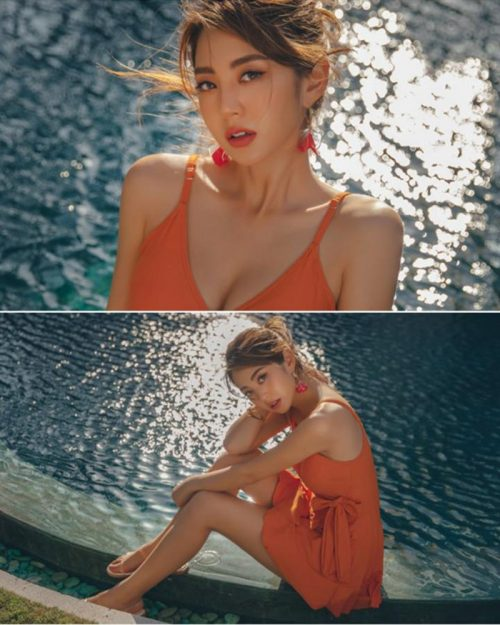 Image Korean Fashion Model - Lee Chae Eun - Sienna One Piece Swimsuit - TruePic.net