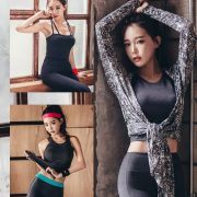 Image Korean Fashion Model - Yoon Ae Ji - Fitness Set Collection - TruePic.net
