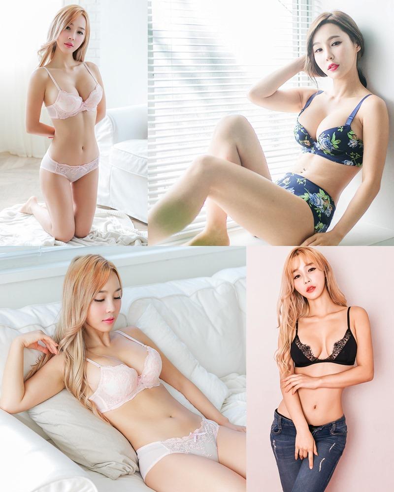 Lee Ji Na - Korean Fashion Model - Push Up Bra Lingerie - TruePic.net