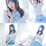 MTCos 喵糖映画 Vol.019 – Chinese Cute Model – Blue White Fantasy Girl - TruePic.net