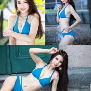 Taiwanese Beautiful Model - Debby Chiu - Blue Sexy Bikini - TruePic.net