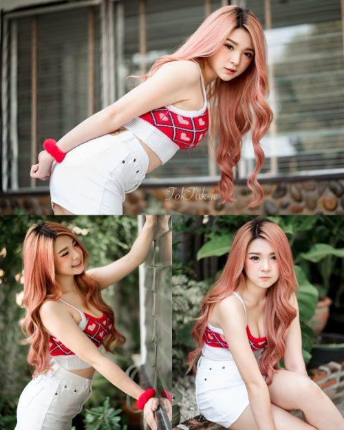 Image Thailand Model - JaJaa Zarinyap - Crop Top and Sort Pants - TruePic.net