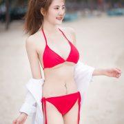 Thailand Model - Nitchakan Thongruangkitti - Red Fern Bikini - TruePic.net