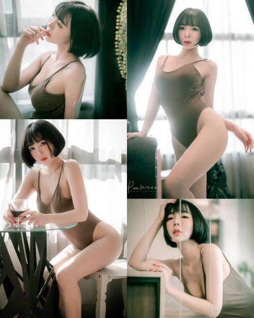 Image Thailand Model - Preeyapon Yangsanpoo - One Piece Swimsuit In House - TruePic.net