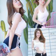Image Thailand Model - Sasipa Tungmay Jibkrapong - White Crop Top - TruePic.net