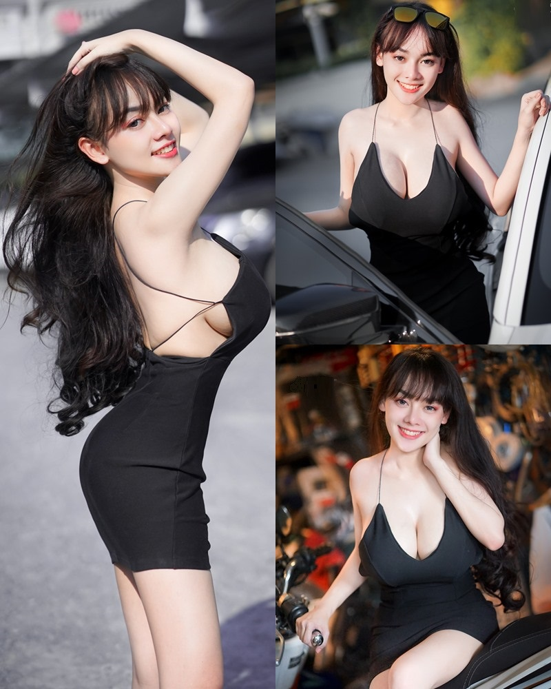 Thailand Model - จุ๊ปเปอร์ จุ๊ป - Sexy Black Car Girl - TruePic.net