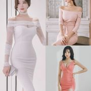 Korean Fashion Model - Kang Eun Wook - Slim Fit Bodycon Dress - TruePic.net