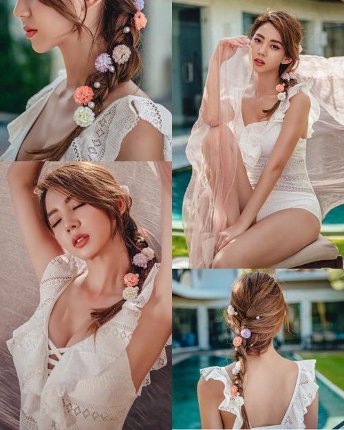 Korean Fashion Model - Lee Chae Eun - Linda One Piece Swimsuit - TruePic.net