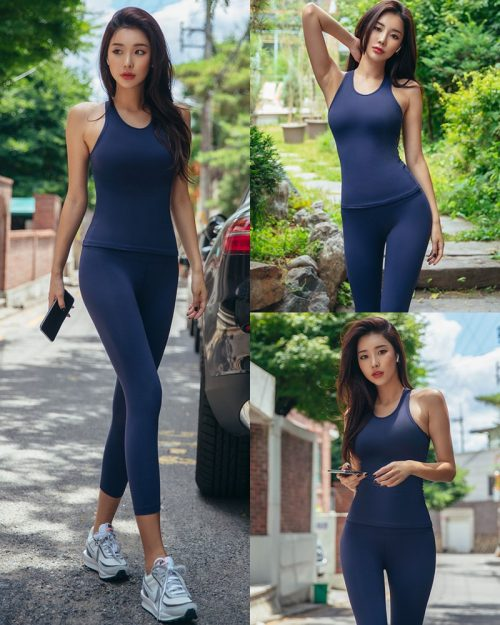 Korean Fashion Model - Park Da Hyun - Navy Sportswear - TruePic.net