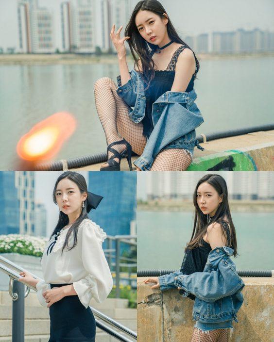 Korean Hot Model - Go Eun Yang - Outdoor Photoshoot Collection - TruePic.net