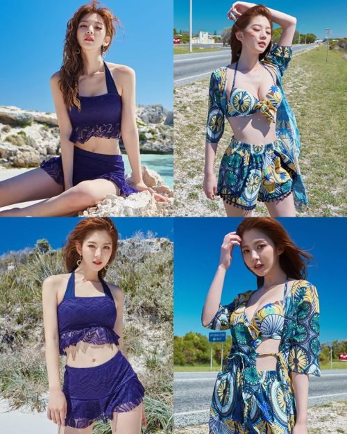 Lee Chae Eun - Korean Fashion Model - Magic Fit Beachwear Set - TruePic.net