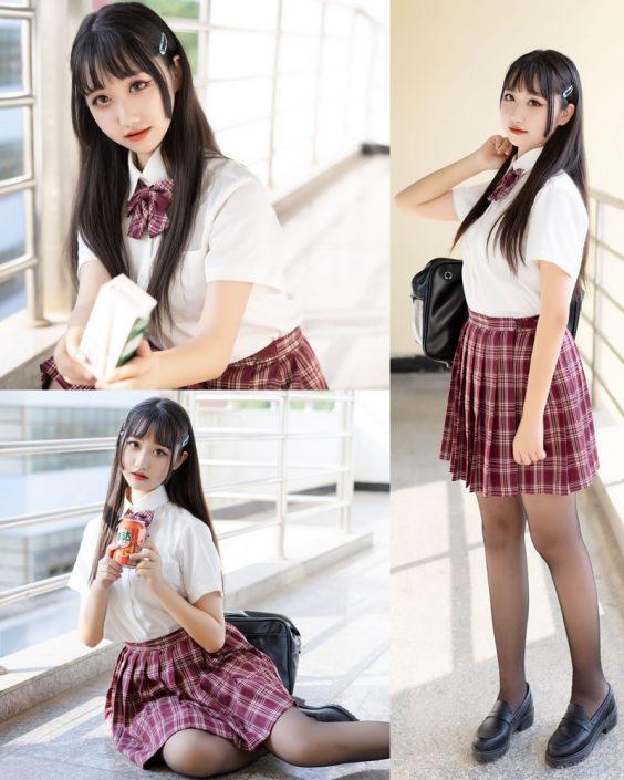 [MTCos] 喵糖映画 Vol.023 – Chinese Cute Model – Long Hair JK Girl - TruePic.net