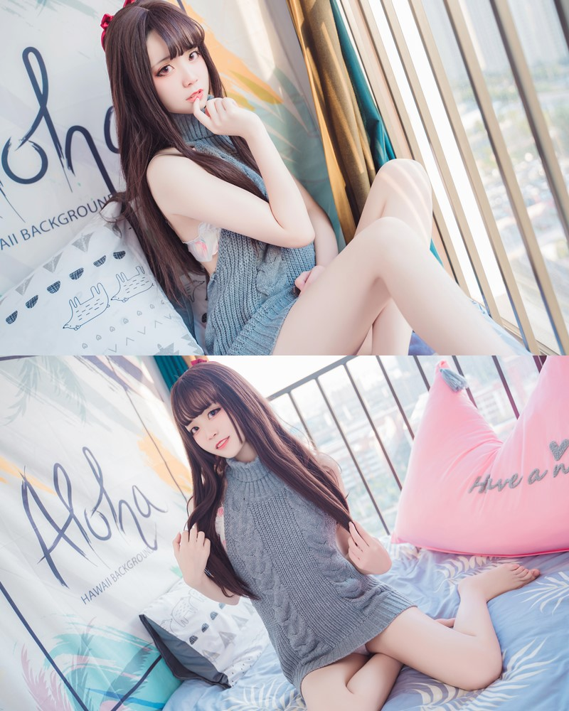 [MTCos] 喵糖映画 Vol.030 – Chinese Cute Model – Open Back Sweater - TruePic.net