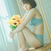 Thailand Model - Ar Yumi - Sun Flower and Light Blue Lingerie - TruePic.net