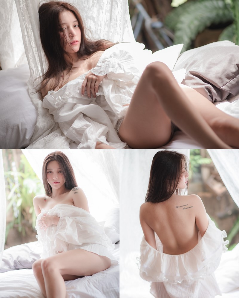 Thailand Model - Nardear Montgod - Sexy Beautiful In White - TruePic.net