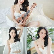 Thailand Model - Nattanicha Pw - Beautiful In White Sleepwear - TruePic.net