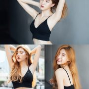 Thailand Model - Sasi Ngiunwan - Black Crop Tops and Jean - TruePic.net