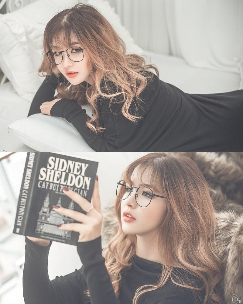 Vietnamese Model - Cute Glasses Girl With Black Dress - TruePic.net