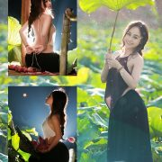 Vietnamese Model - Ha Minie - Beauty Girl and Lotus Flower #2 - TruePic.net