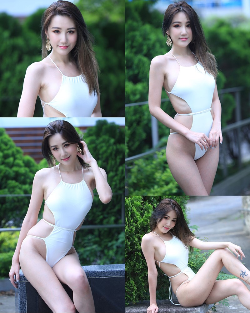 Taiwanese Beautiful Model - Suki - White Sexy Bikini Girl - TruePic.net