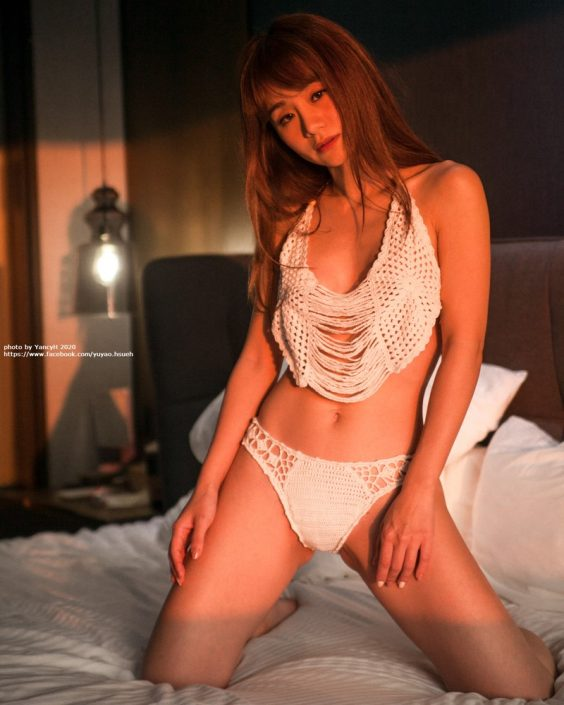 Taiwanese Model - Xin Ya - White Lace Lingerie For You - TruePic.net
