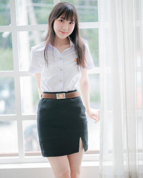 Thailand Model - Miki Ariyathanakit - Cute Student Girl - TruePic.net