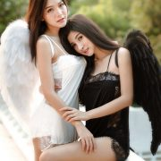 Thailand Model - Phitchamol Srijantanet and Pattamaporn Keawkum - Angel and Demon - TruePic.net