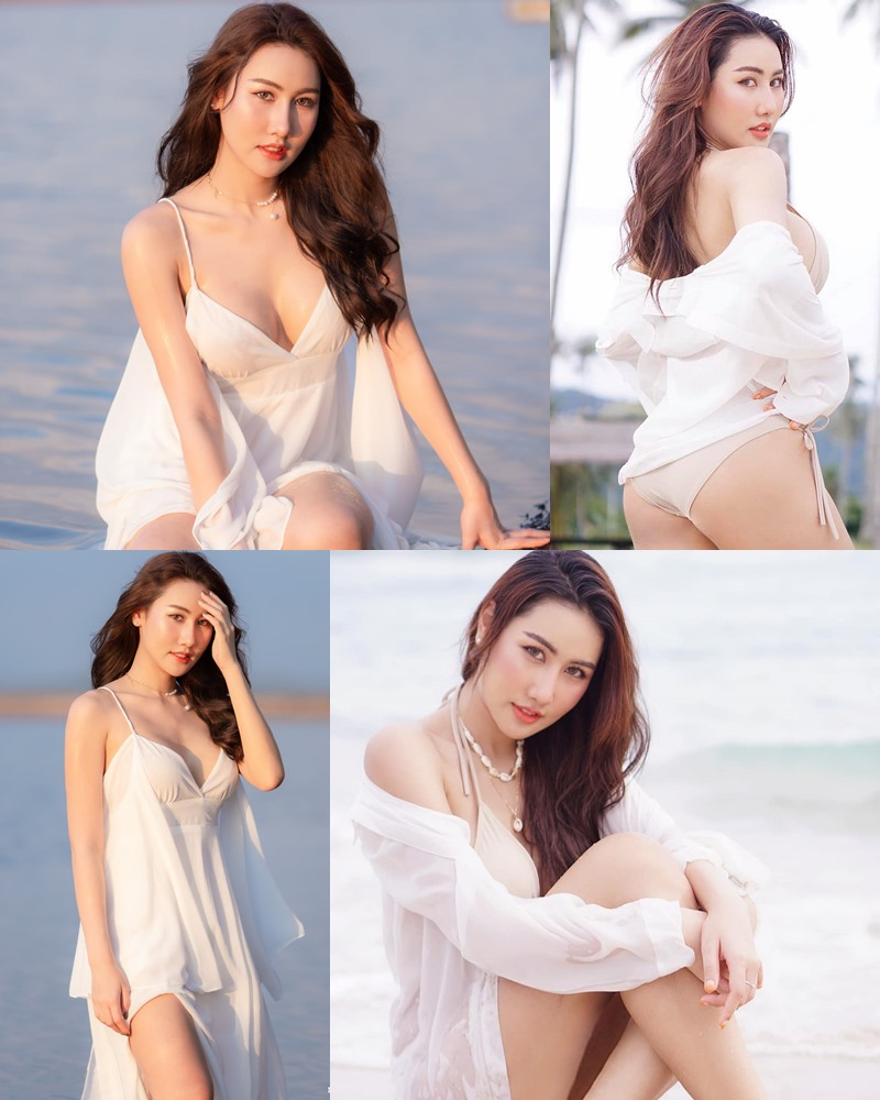 Thailand Model - Rungsiya Chuanchom - White Sexy Girl and The Beach - TruePic.net
