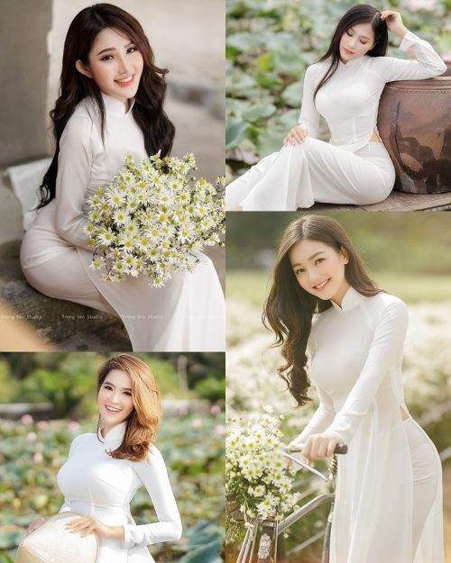 The Beauty of Vietnamese Girls with Traditional Dress (Ao Dai) #3 - TruePic.net