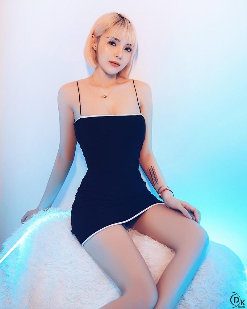 Vietnamese Model - Beautiful Short Hair Girl In Black Bodycon Dress - TruePic.net