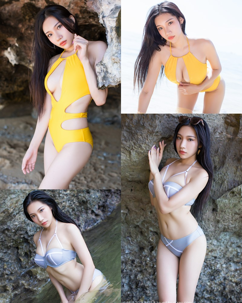 IMISS Vol.227 - Chinese Model Xiao Hu Li (小狐狸Sica) - Bikini On the Beach - TruePic.net