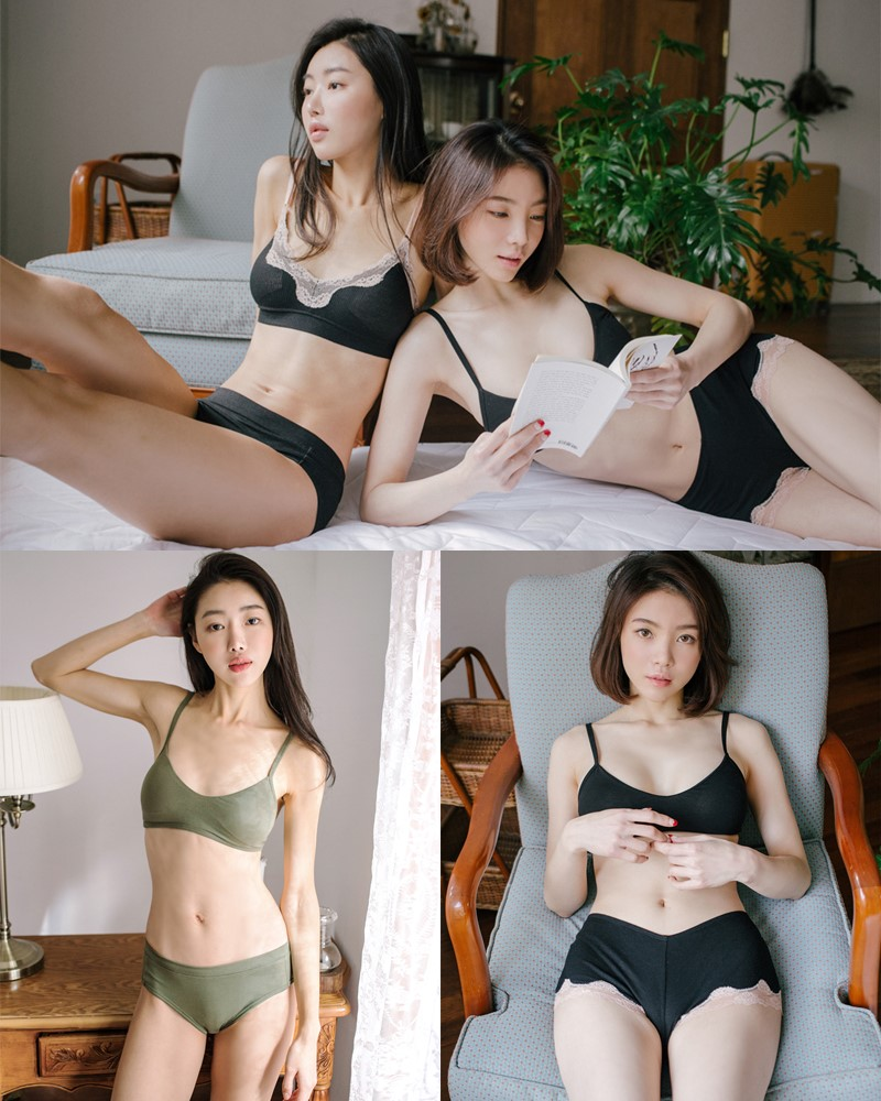 Korean Fashion Model - Jin Sol and Eun Hye - Ullala Lingerie Sets - TruePic.net