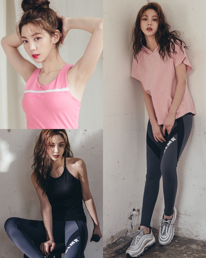 Korean Fashion Model - Lee Chae Eun - Fitness Set Collection #1 - TruePic.net