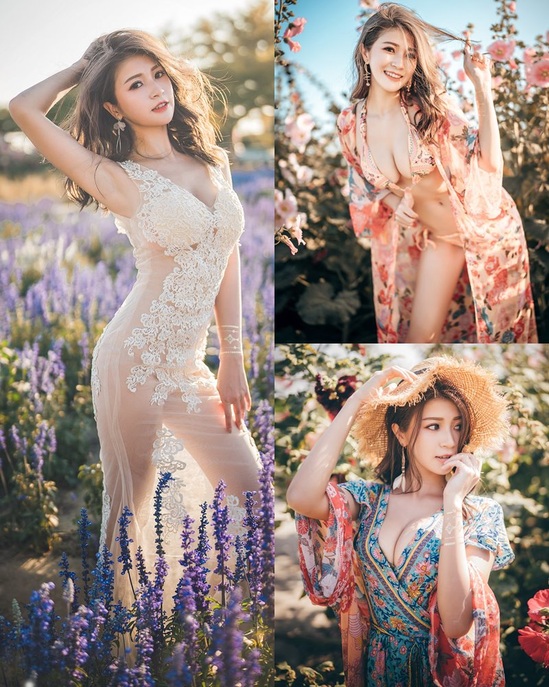 Taiwanese Model - 珈伊Femi - Sexy Beautiful Girl at Hollyhock Garden - TruePic.net