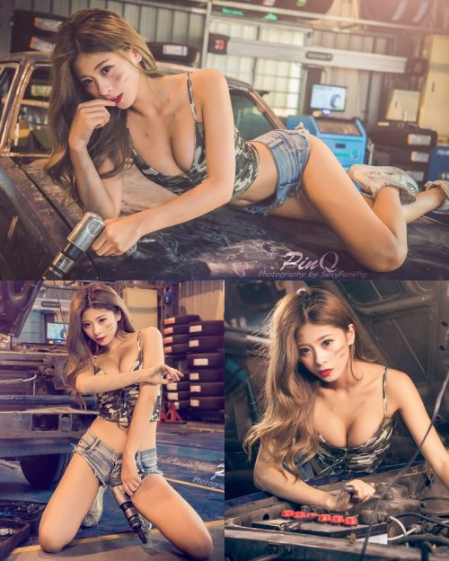 Taiwanese Model - PinQ憑果茱 - Hot Sexy Girl Car Mechanic - TruePic.net