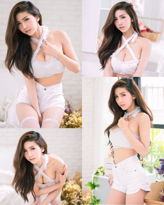 Thailand Model - Jurarak Untao - Beautiful in White - TruePic.net