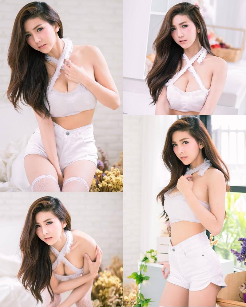 Thailand Model - Jurarak Untao - Beautiful in White - TruePic.net