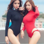 Thailand Model - Soithip Palwongpaisal & Champ Phawida - Black Red Concept - TruePic.net
