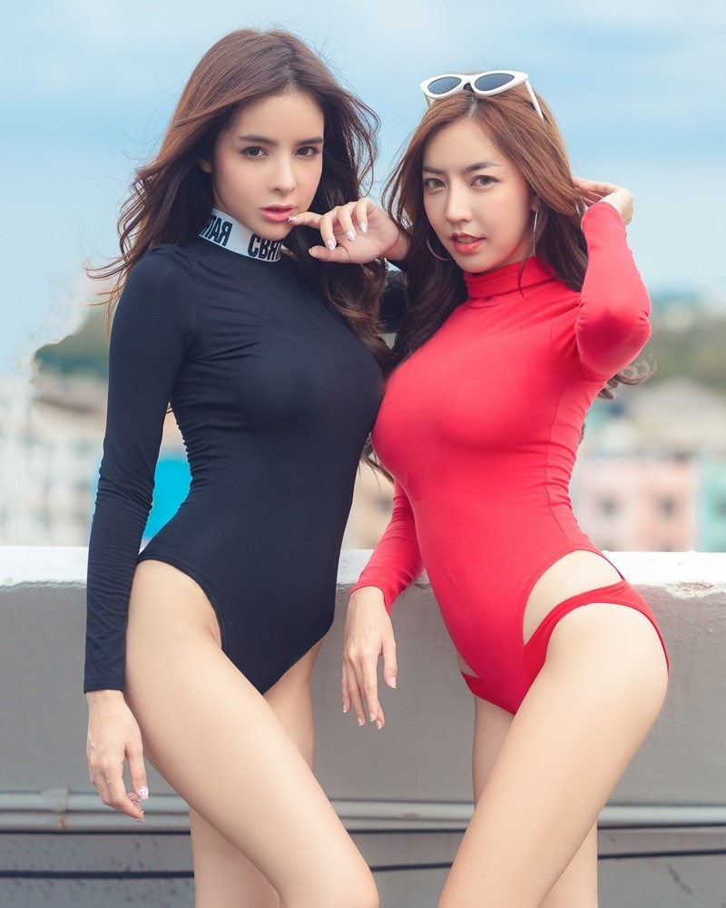 Thailand Model - Soithip Palwongpaisal & Champ Phawida - Black Red Concept - TruePic.net